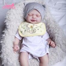 Newest 46CM Reborn Doll Newborn Baby Doll 2.25KG Realistic Baby Toys very soft full body silicone gi