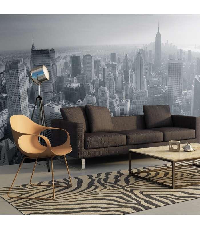 XXL photo murale-Panorama new-yorkais en noir et blanc