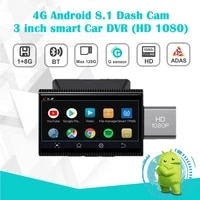 4g android 8 1 dash cam 3inch smart car dvr hd 1080pwifinight vision