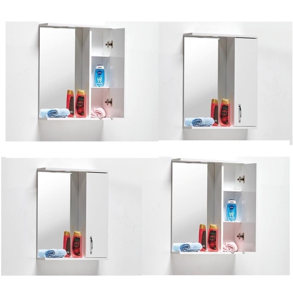 Зеркало в комплекте + качество Сделано в Турции Ванная комната настенный прочный шкаф полки мебель зеркальный Декор современного кухонного...