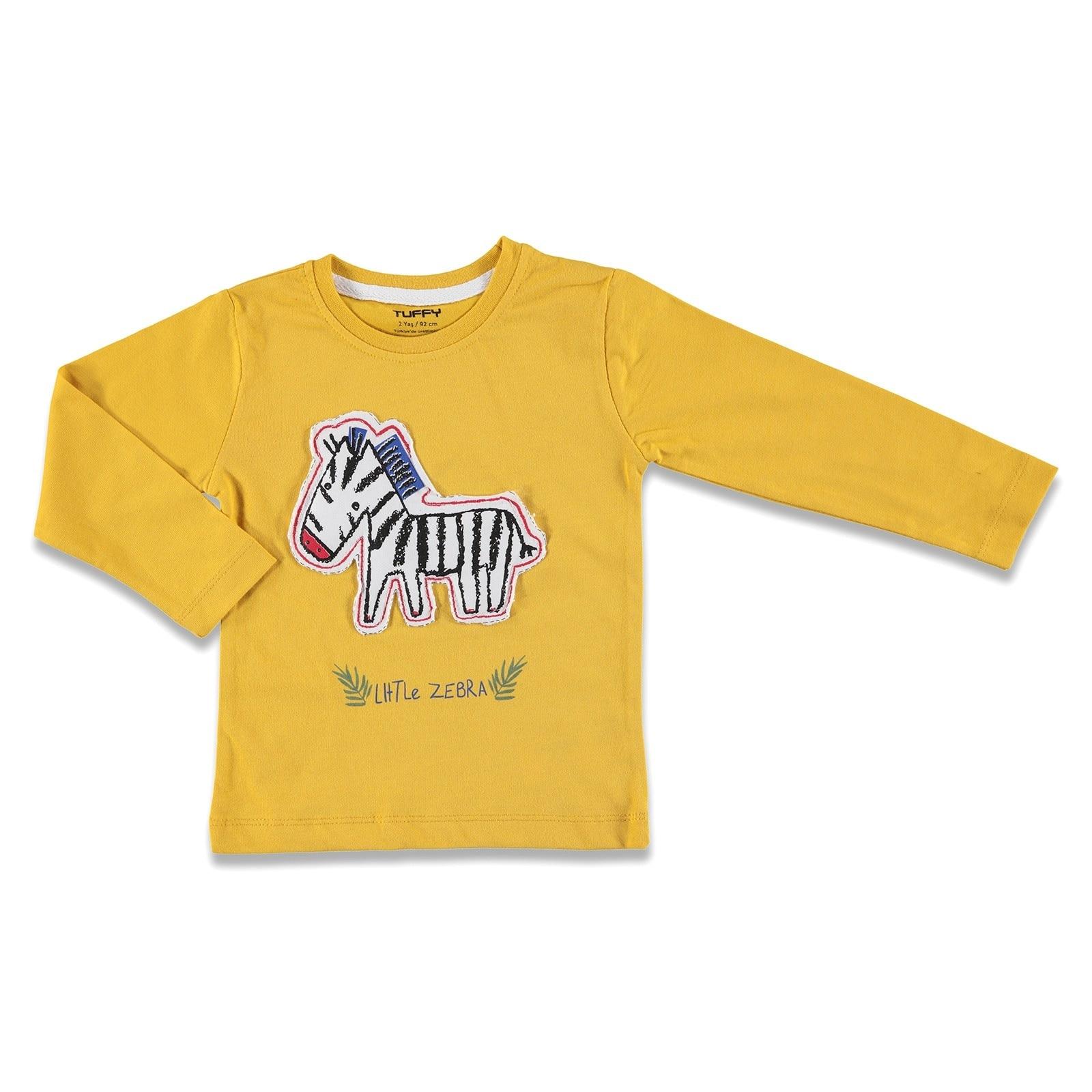 Camiseta de manga larga ebebebek Tuffy Little Zebra Baby Boy