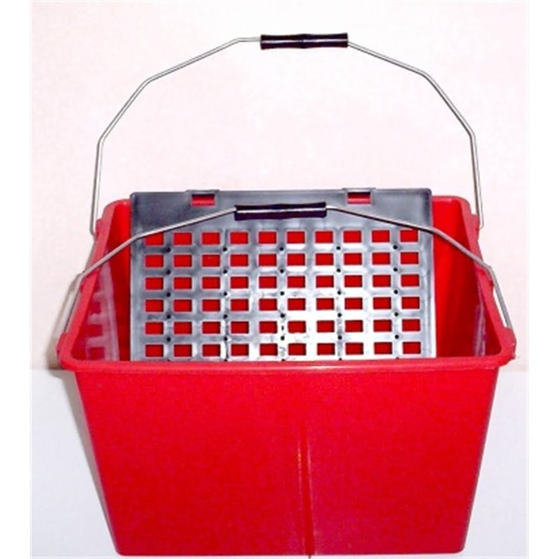 Cubeta 16l 2 alças c/grade de plástico 6909