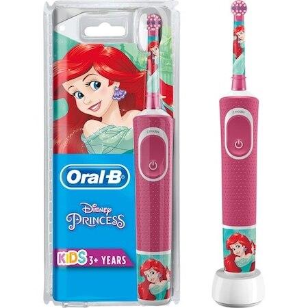 Oral-B para niños cepillo de dientes recargable serie especial princesa D100-Modo de precisión personalizado-limpieza diaria-Tapones para niños EU