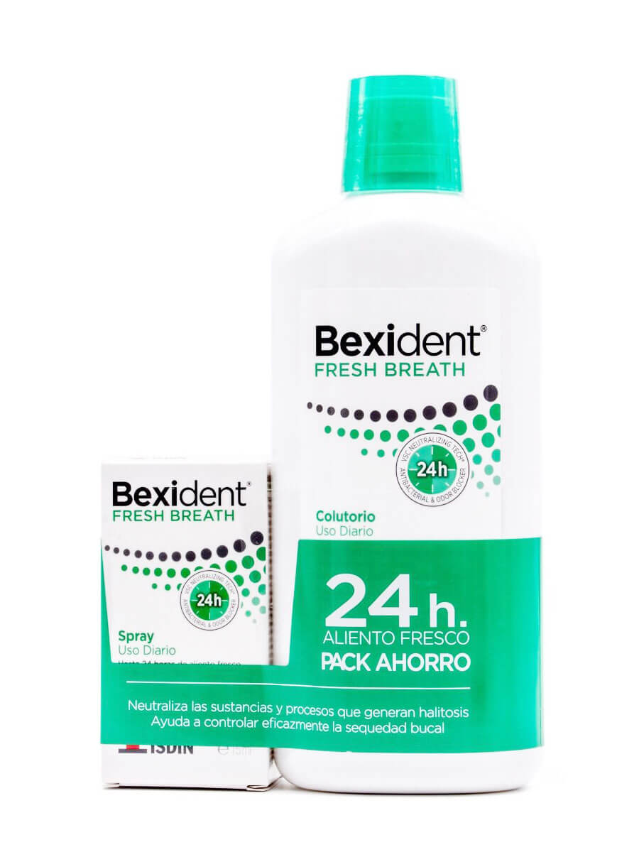 Bexident fresh pack colutorio 500 ml+ spray 15 ml Colutorio uso diario aliento fresco tratamiento completo