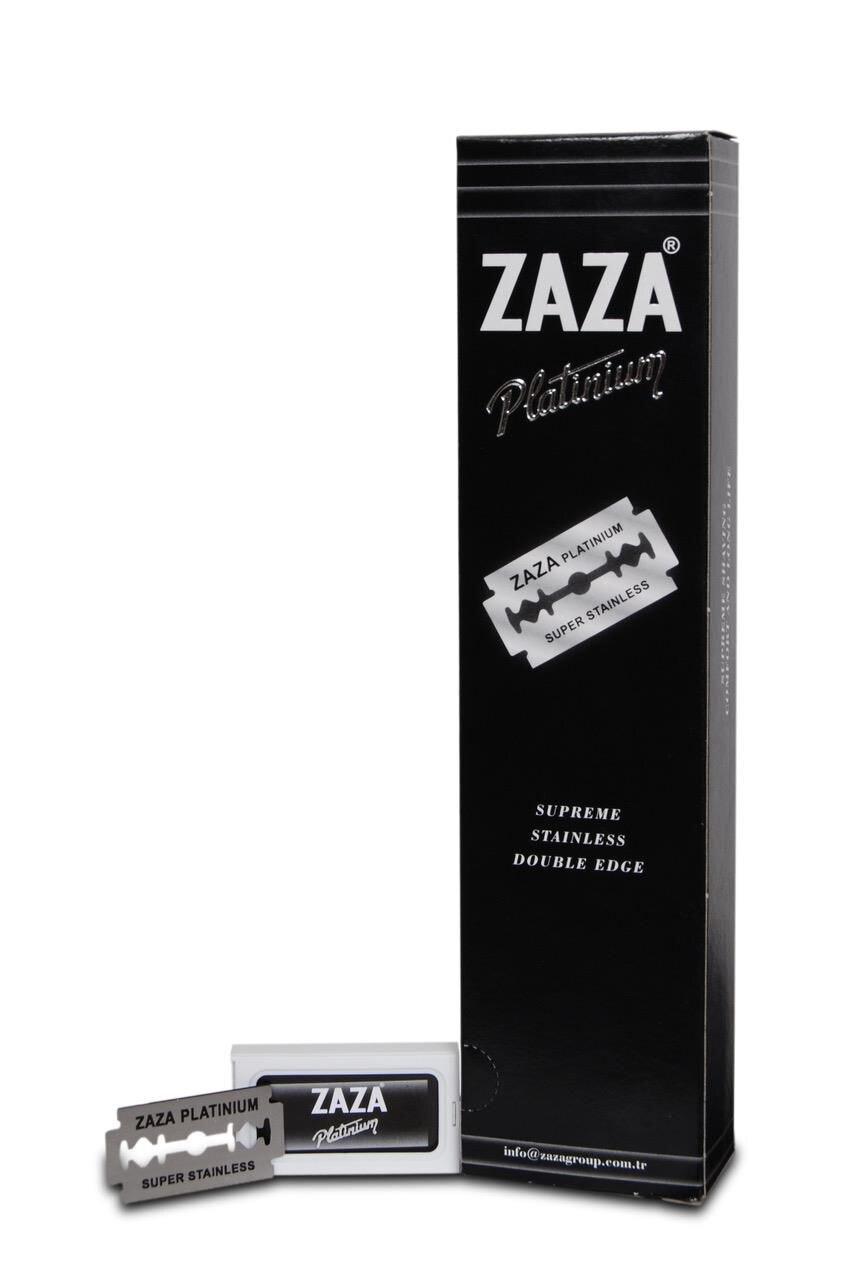 Zaza Double Sided Leaf Razor Shaving Machine Blade Hair Beard Men 'S Barber Brush Razor Blades Men 'S Grooming Shaver Set Facial Care