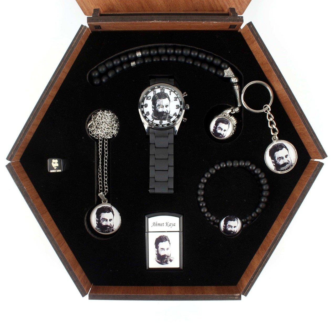 طقم مجوهرات أحمد كايا ، 7 قطع ، صندوق خاص ، تصميم أنيق
