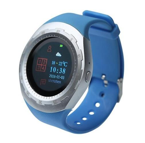 Watch carcam smart watch A7-silver, blue silicone