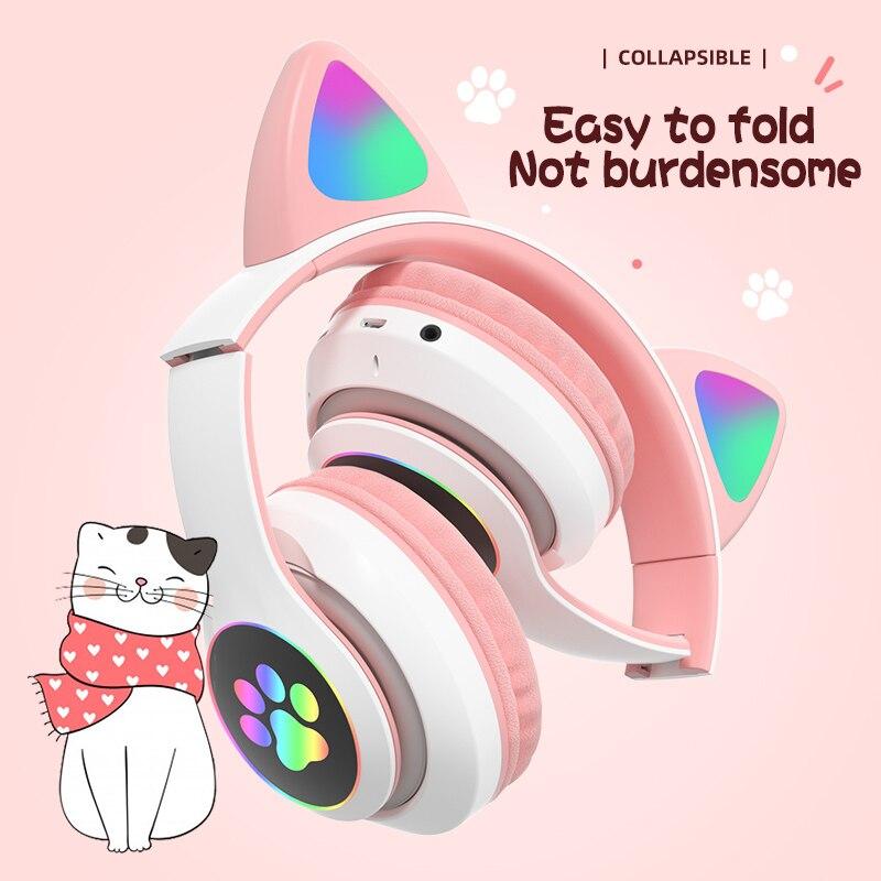 Auriculares inalámbricos con Bluetooth 5,0 para Oreja de Gato, audífonos con cancelación...