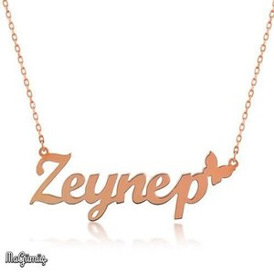 Butterfly Name Silver Necklace