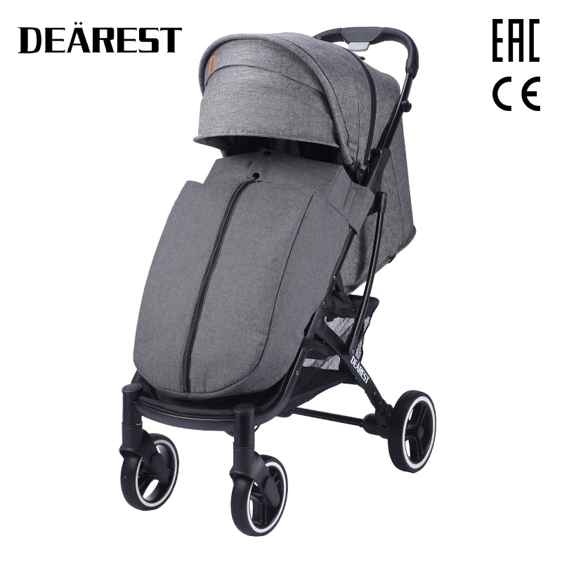 New dearest 818+   Baby Stroller Foldable With Wind Shield Foot Cover Four Wheels Foldable Free shipping in  Russia