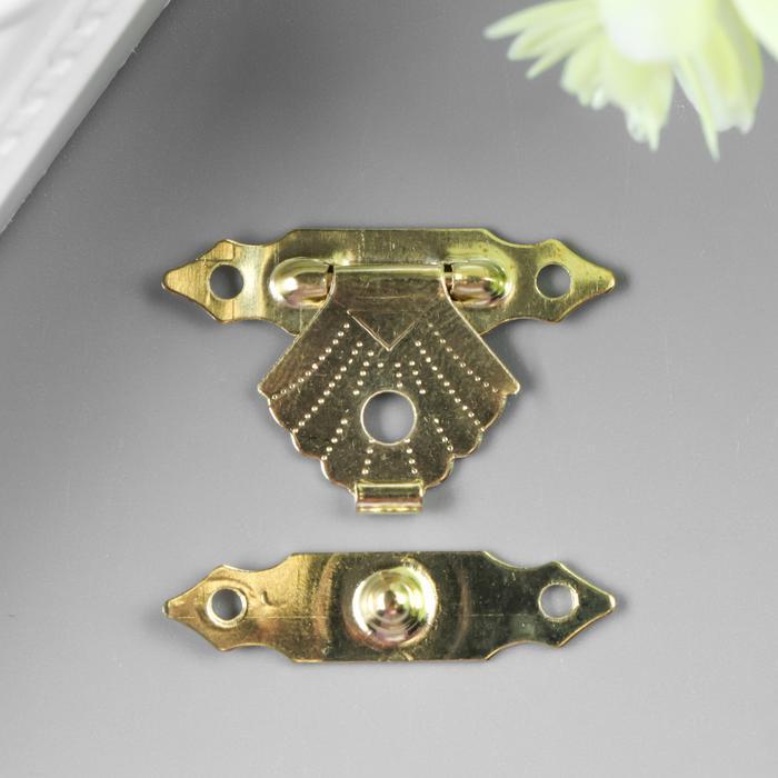 3539206 metal de bloqueo para ataúd dorado + clavos. Un conjunto de 10 Uds 2*3 cm