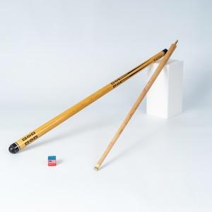 Long Play Billiard Maple Tree 1/2 Split Cue 145-147 CM Radial Joint Screw Natural Wooden