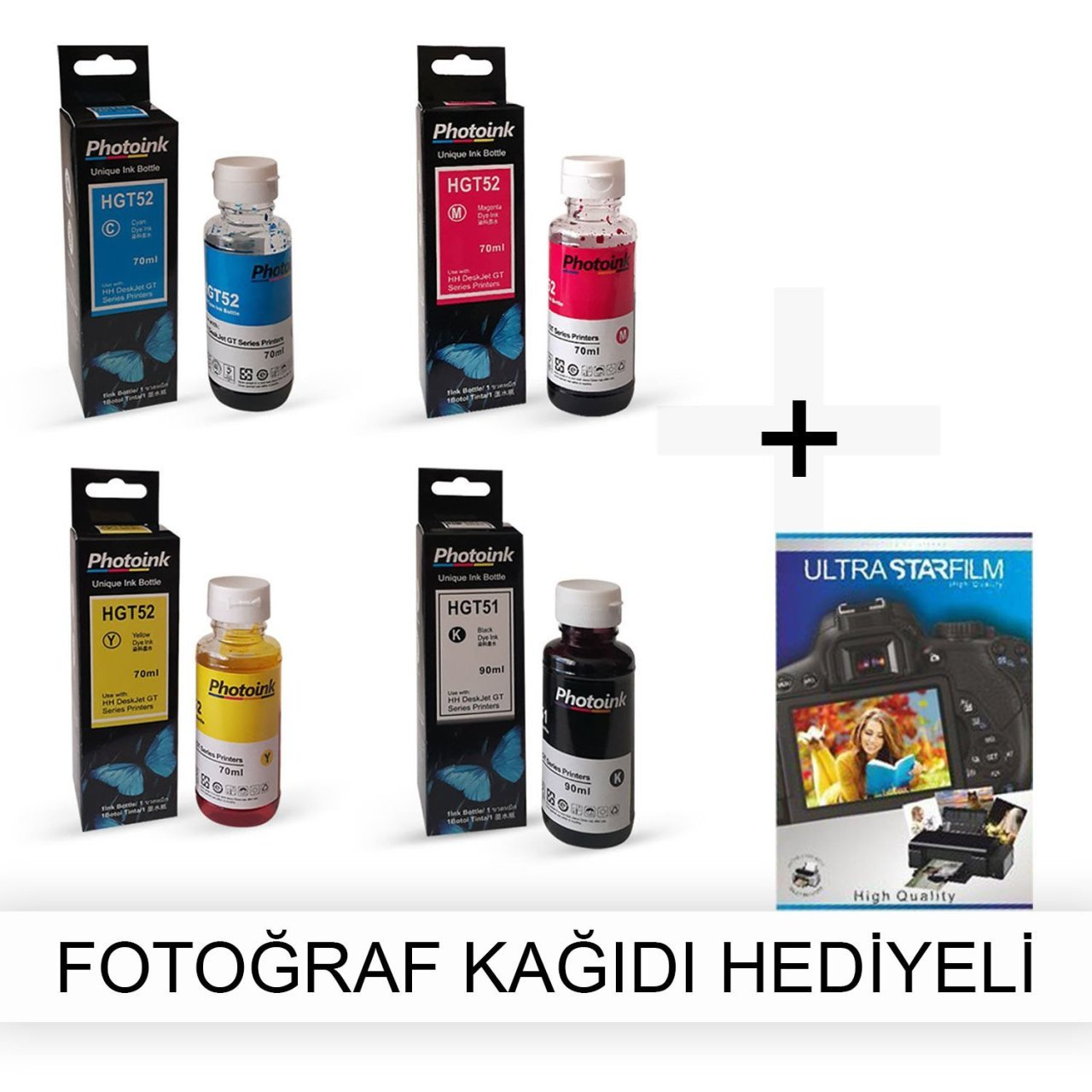 HP Officejet 7115 1 traje de tinta fotográfica-regalo de papel fotográfico
