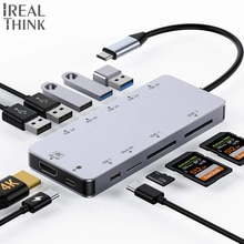 IREALTHINK Dock USB Type C Adaptateur usb c hub Multi ports USB Connecteur OTG hub HDMI Adaptateur Macbook Pro Quai répartiteur USB HUB