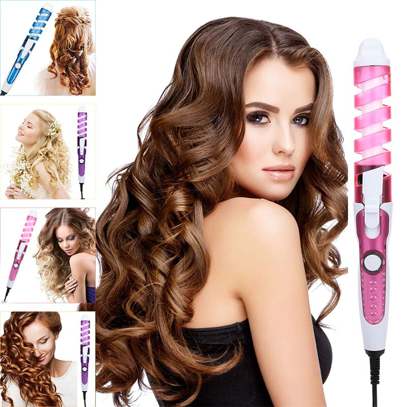 profissional modelador de cabelo espiral magica modelador de cabelo curling ferro