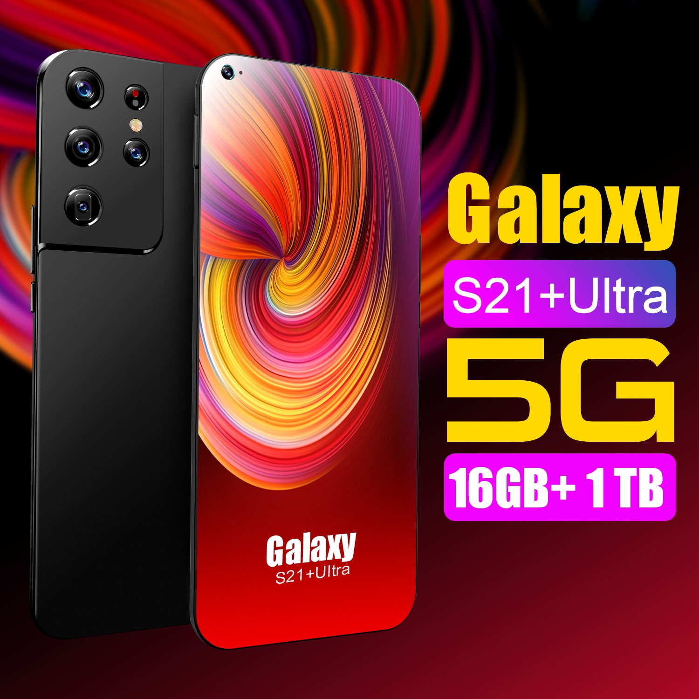 هاتف نوفو جالاكسي s21 + هاتف الترا سيلواريس 7.3 بوليغادا 4g 5g rede dez núcleo rom 16G + 1024GB هاتف أندوريد 11 هاتف ذكي فيرساو gl