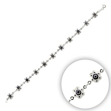 Bracelet en argent 925 avec perle en verre