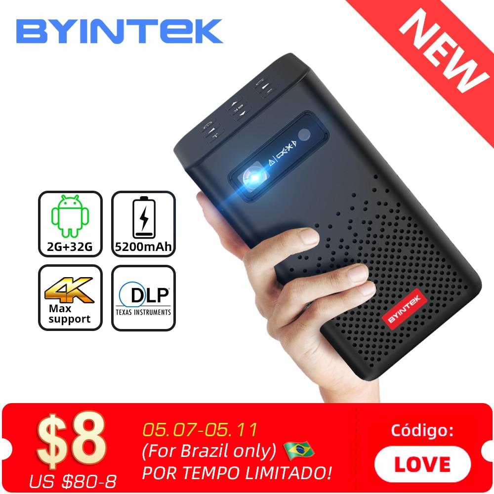 BYINTEK P20 Mini Portable Smart Android WIFI TV Video Pico LED DLP Projector for Full HD 1080P Mobile Smartphone PC 4K Cinema