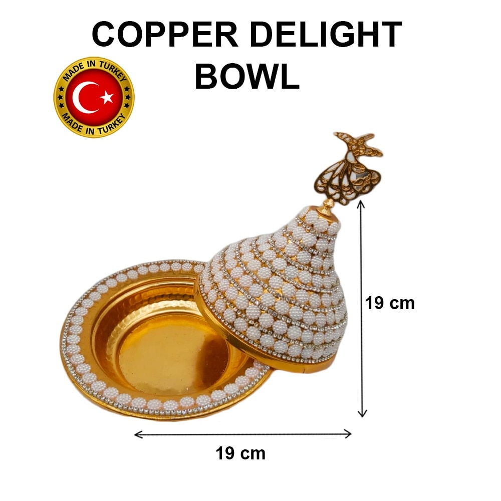 Turkish delight nuts serving bowl free shipping style silver snack plated more usefull  made in turkey b-1060