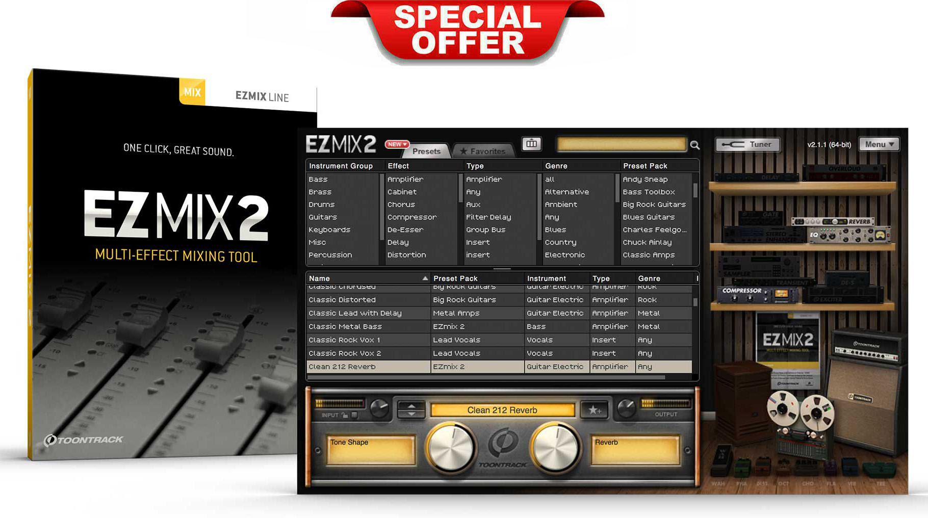 Toontrack EZMix 2 With Expansion Pack EXE-VST-RTAS-AAX-AU For WIN & MAC