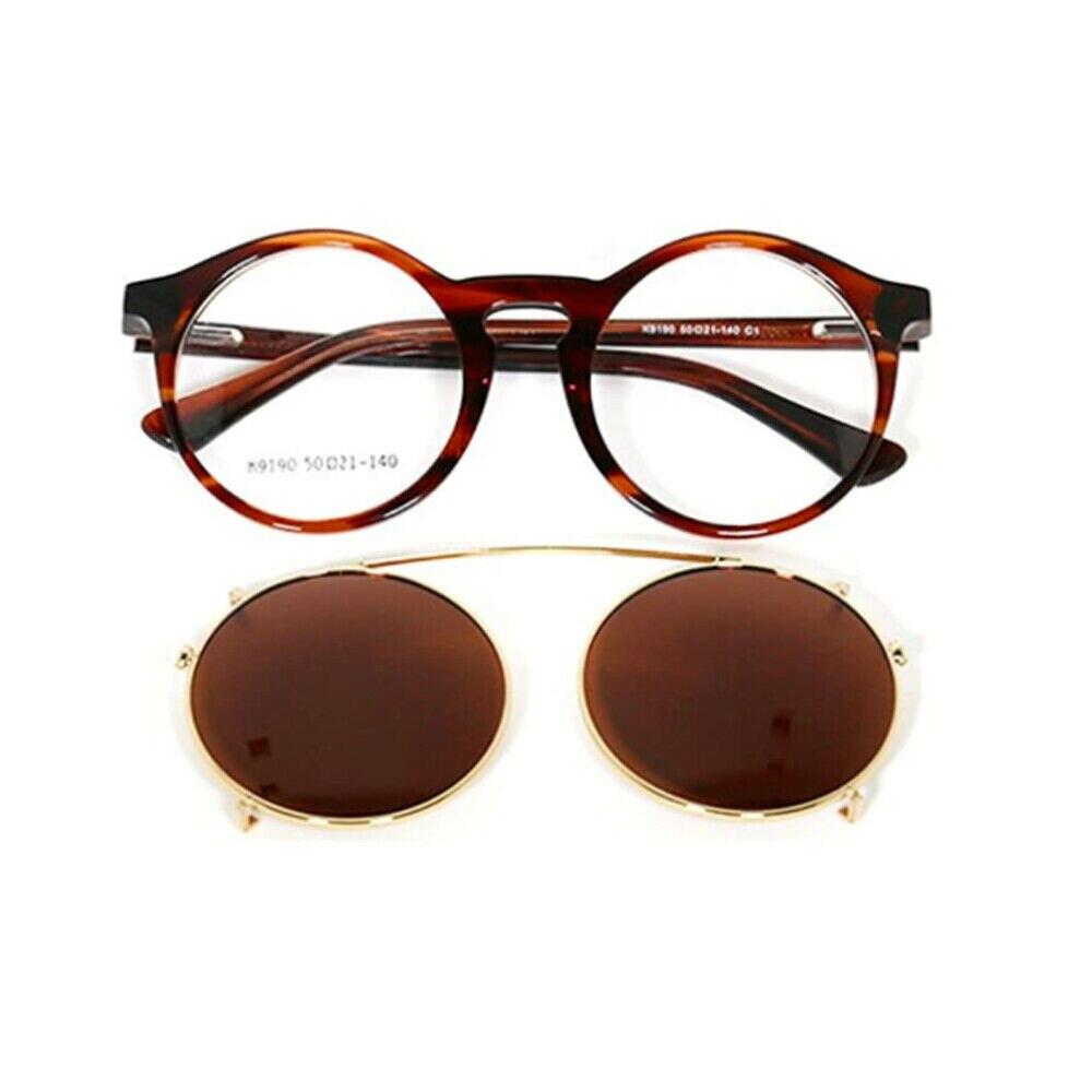 نظارات شمسية مستقطبة مع مشبك للنساء والرجال ، نظارات شمسية بإضاءة دائرية ريترو مع مشبك قابل للإزالة ، مثالية للقيادة
