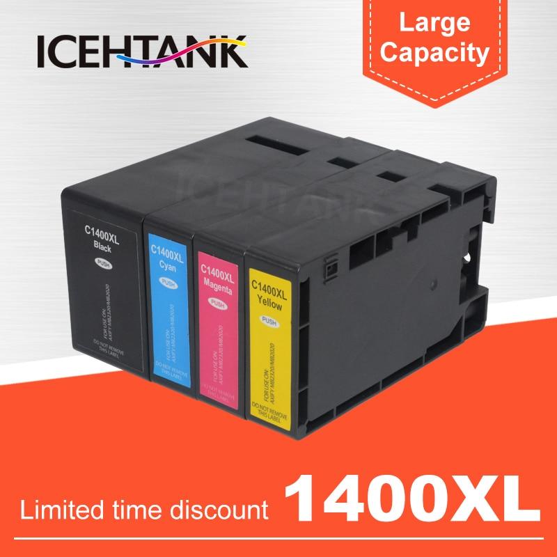 ICEHTANK PGI-1400 Compatible con Canon MAXIFY MB2340 MB2040 MB2140 MB2740 cartuchos de tinta para impresora PGI 1400XL PGI1400XL