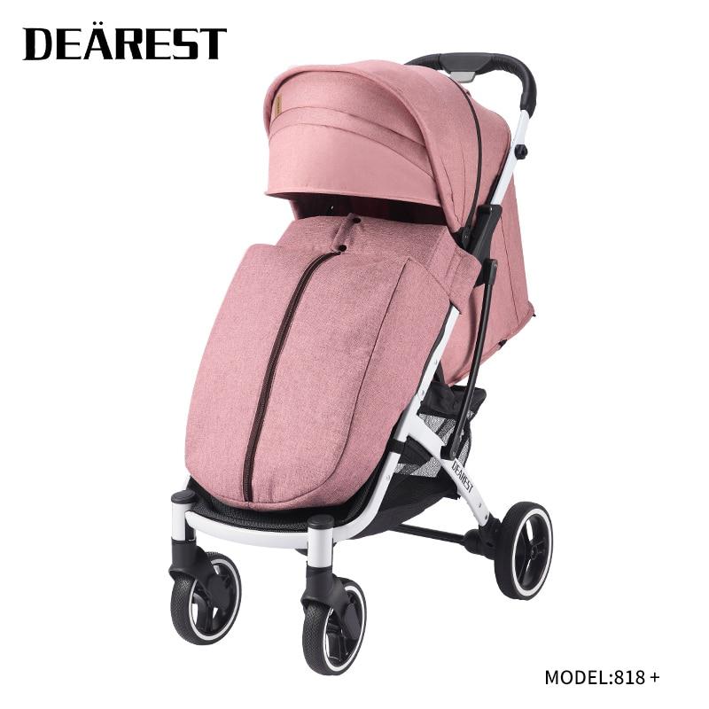 New dearest 818+  waterproof design baby stroller wheel natural rubber elastic foldable stroller