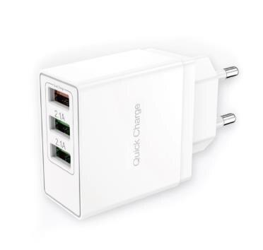 Сетевое зарядное устройство СЗУ быстрая зарядка 3,0/carga rápida 3,0 3xUSB 3A