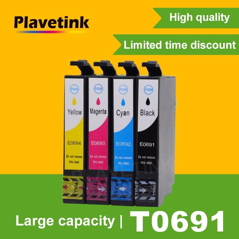 Cartucho de tinta Plavetink Compatible con tinta completa para Epson T0691 Stylus CX5000 CX6000 CX7000F CX7400 CX7450 impresora completa