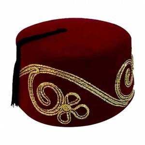 WONDERFUL KORGINAL WONDERFUL Ottoman Fesi Embroidered Patterned Fez Men's Gift Souvenir Fathe, Exotic Ottoman Hat  FREE SHİPPİNG