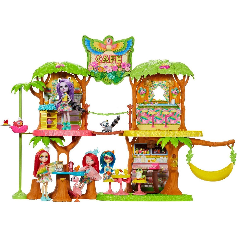 "Enchantimals conjunto®""Jungle Cafe con una muñeca Pikki Kakadu"""