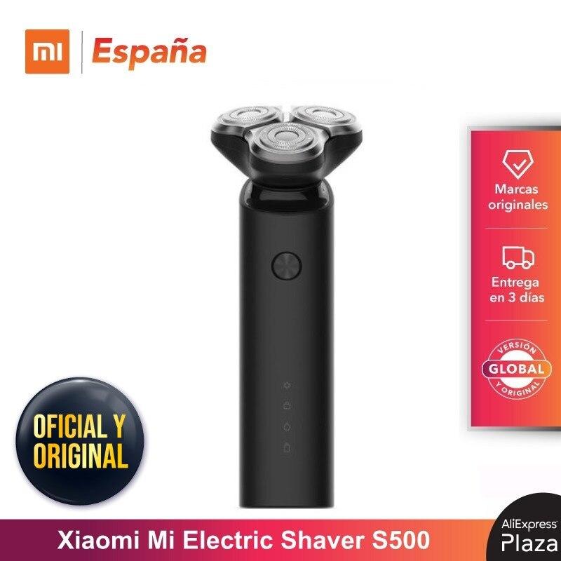 Xiaomi Mi Electric Shaver S500, Maquinilla de Afeitar para Hombre, Recargable, Lavable, Cabezal 3D, 3 Cuchillas