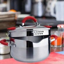 Neue Haushalts 304 Edelstahl Suppe Topf Extra-hohe mit Double Bottom und Starke Eintopf Topf Kochgeschirr Küche Töpfe hot Pot