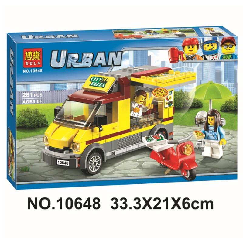 Cliente VIP 10648 serie de coches de la ciudad Pizza Venta de coches figuras de Van juguetes bloques de construcción compatibles Legoinglys 60150 Juguetes