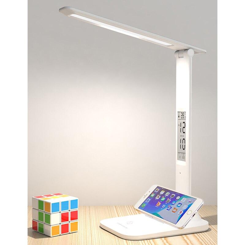 Lebsapofly-مصباح مكتبي ، حماية للعين ، مكتب ، غرفة نوم ، دراسة ، شحن خاص ، ثنائي الغرض