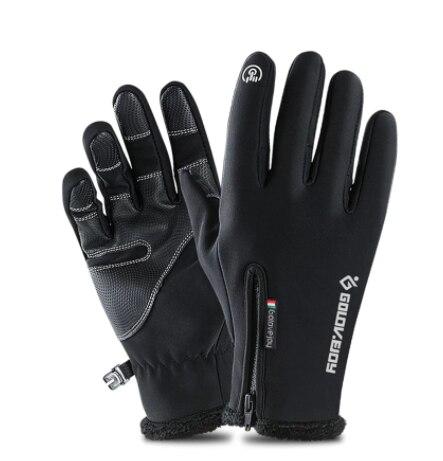 5 Size Koude-Proof Unisex Waterdichte Winter Handschoenen Fietsen Pluis Warme Handschoenen Voor Touc
