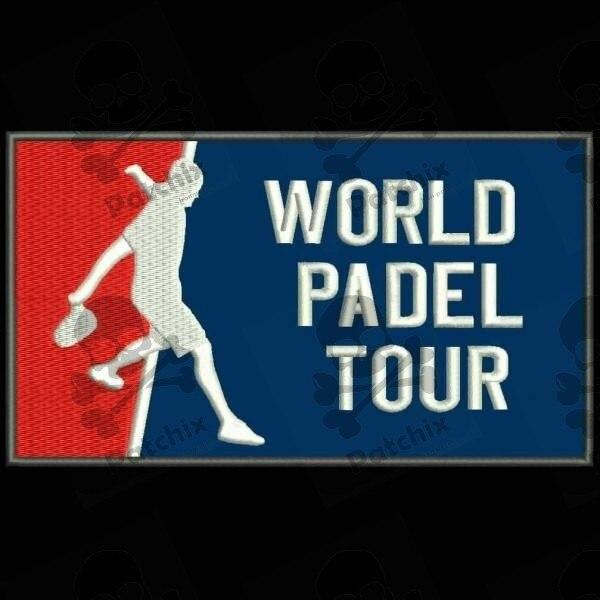 WPT WORLD PADEL TOUR PARCHE BORDADO, iron patch, gestickter patch, patch brode, remendo bordado, toppa ricamata