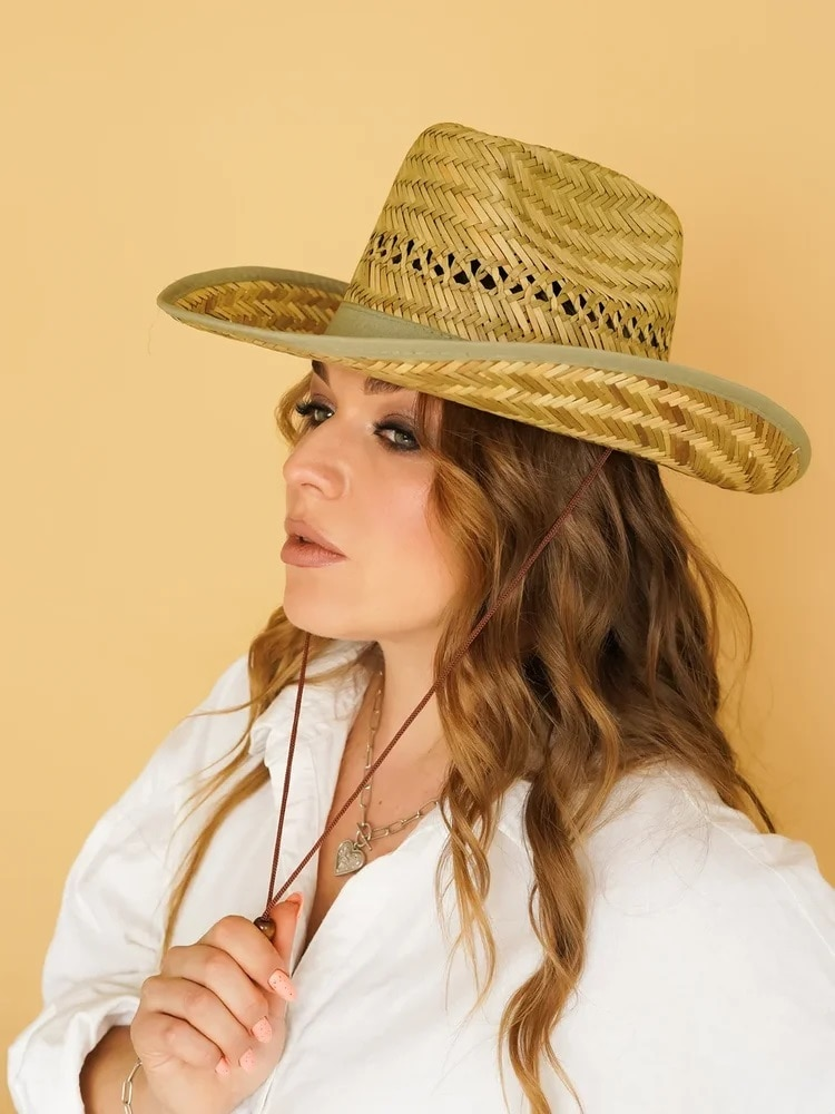 Соломенная шляпа Мальборо летняя от солнца