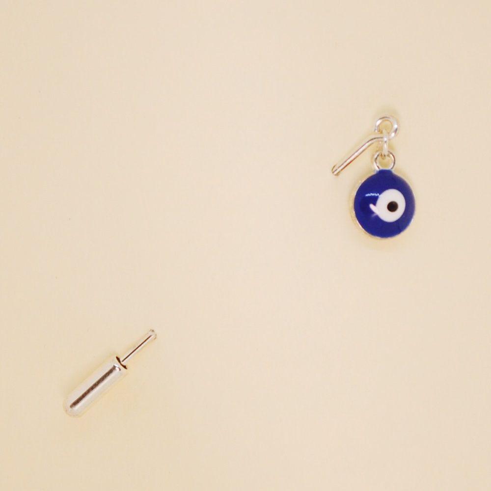 Brooch for lapel Nazar 51493 (blue, needle, jewelery alloy)