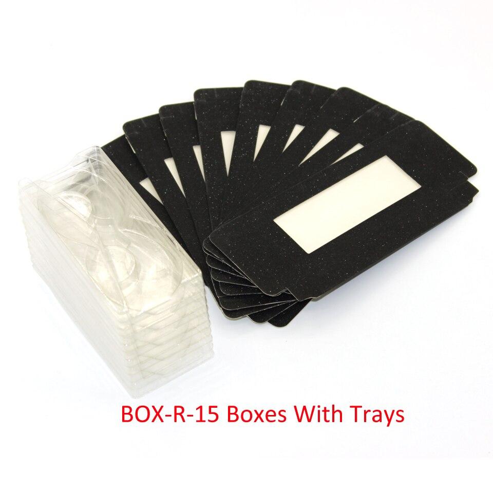Caja de embalaje para pestañas de papel brillante Damepapil, cajas para pestañas a granel, negro/plata/rosa/morado/amarillo/rojo, cajas para pestañas personalizadas, embalaje
