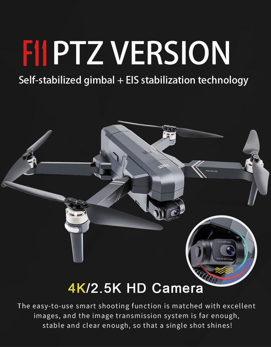 U95108b925e1c4fb091c9d04113a95bd1C - SJRC F11 Pro 4K F11s Pro 2.5K Camera Drone GPS 5G FPV HD 2 Axis Stabilized Gimbal EIS Professional Brushless Quadcopter RC Dron