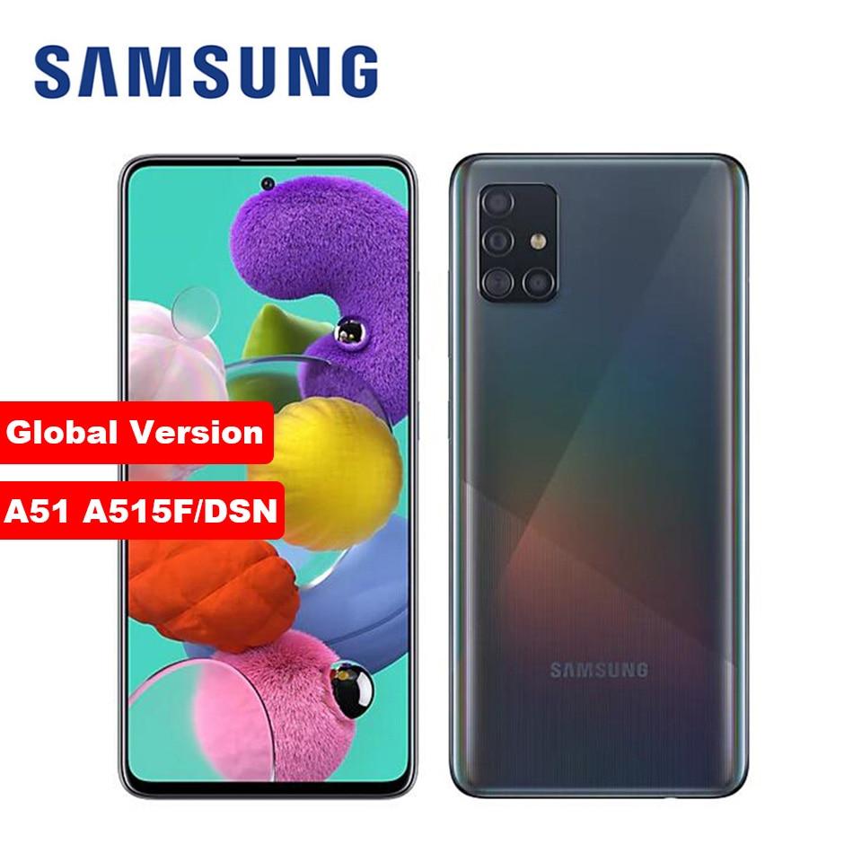 هاتف سامسونج جلاكسي A51 ثماني النواة 6.5 بوصة 4GB RAM 128GB ROM 48MP رباعي الكاميرا الخلفية أندرويد هاتف ذكي مفتوح