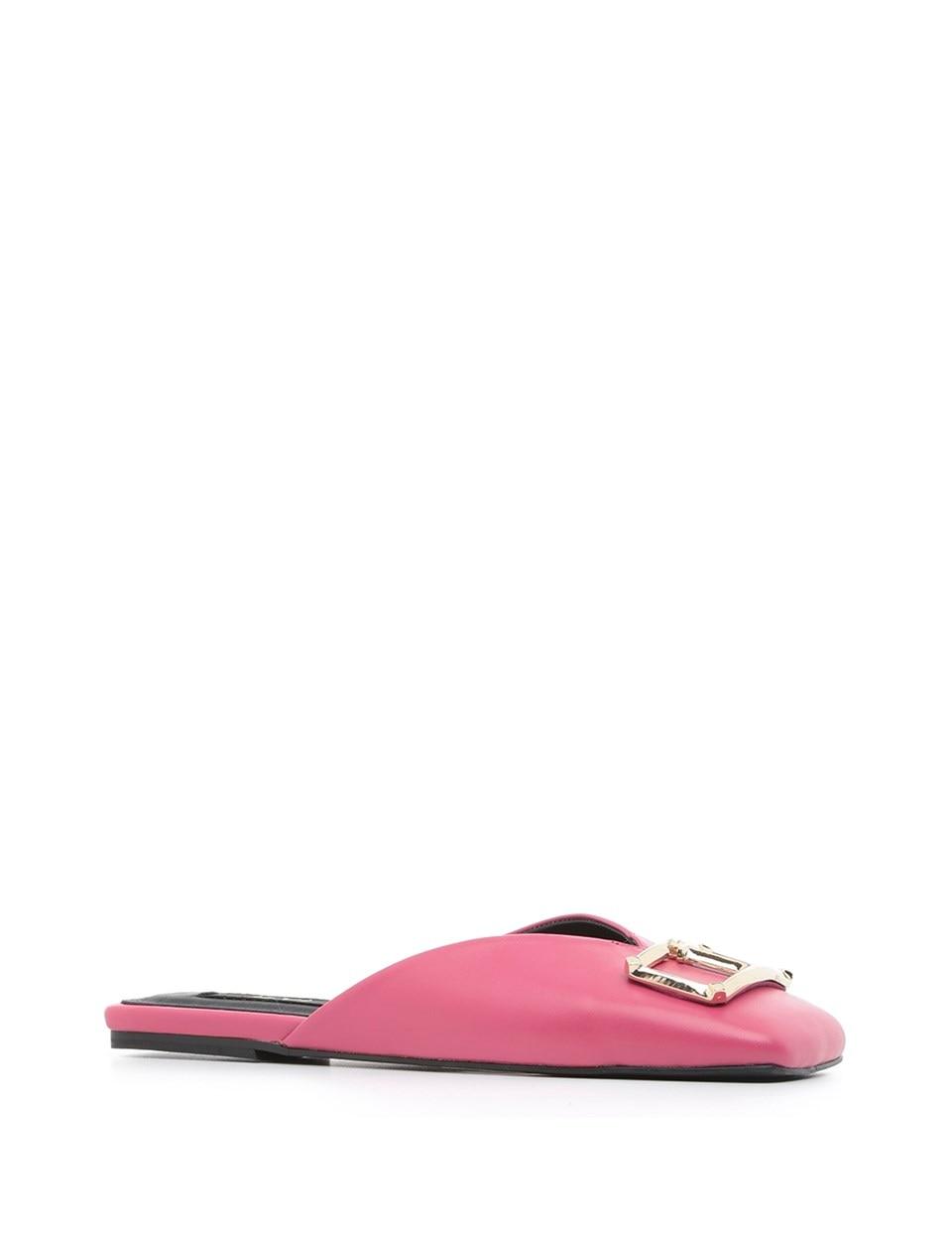 ILVi-cuir véritable fait main Murph femmes pantoufle noir Fuchsia femmes chaussures 2020