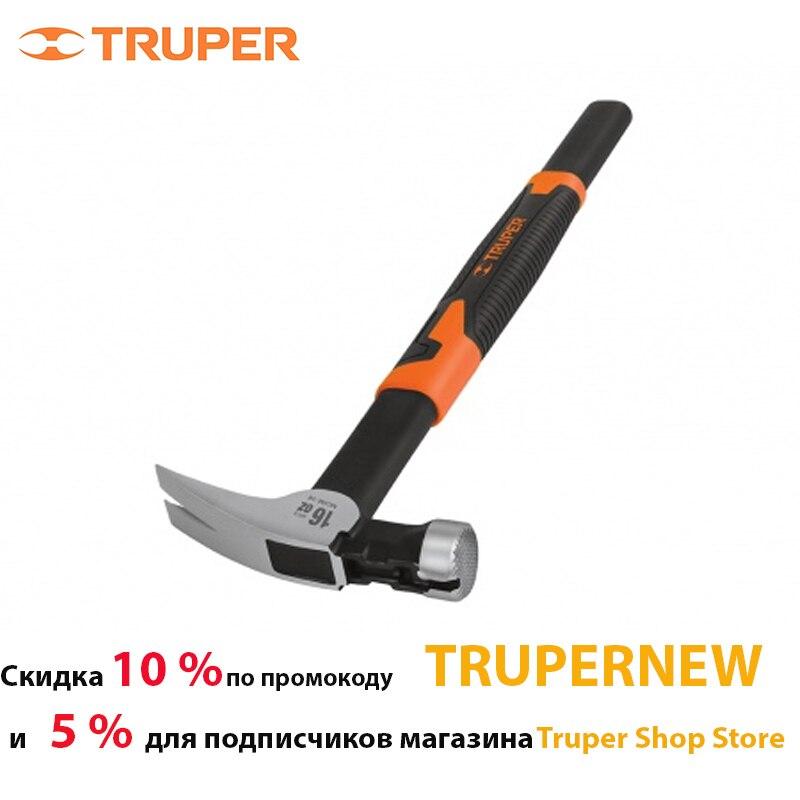 Молоток Truper 10754 Молоток-гвоздодер со стальной ручкой 43 см