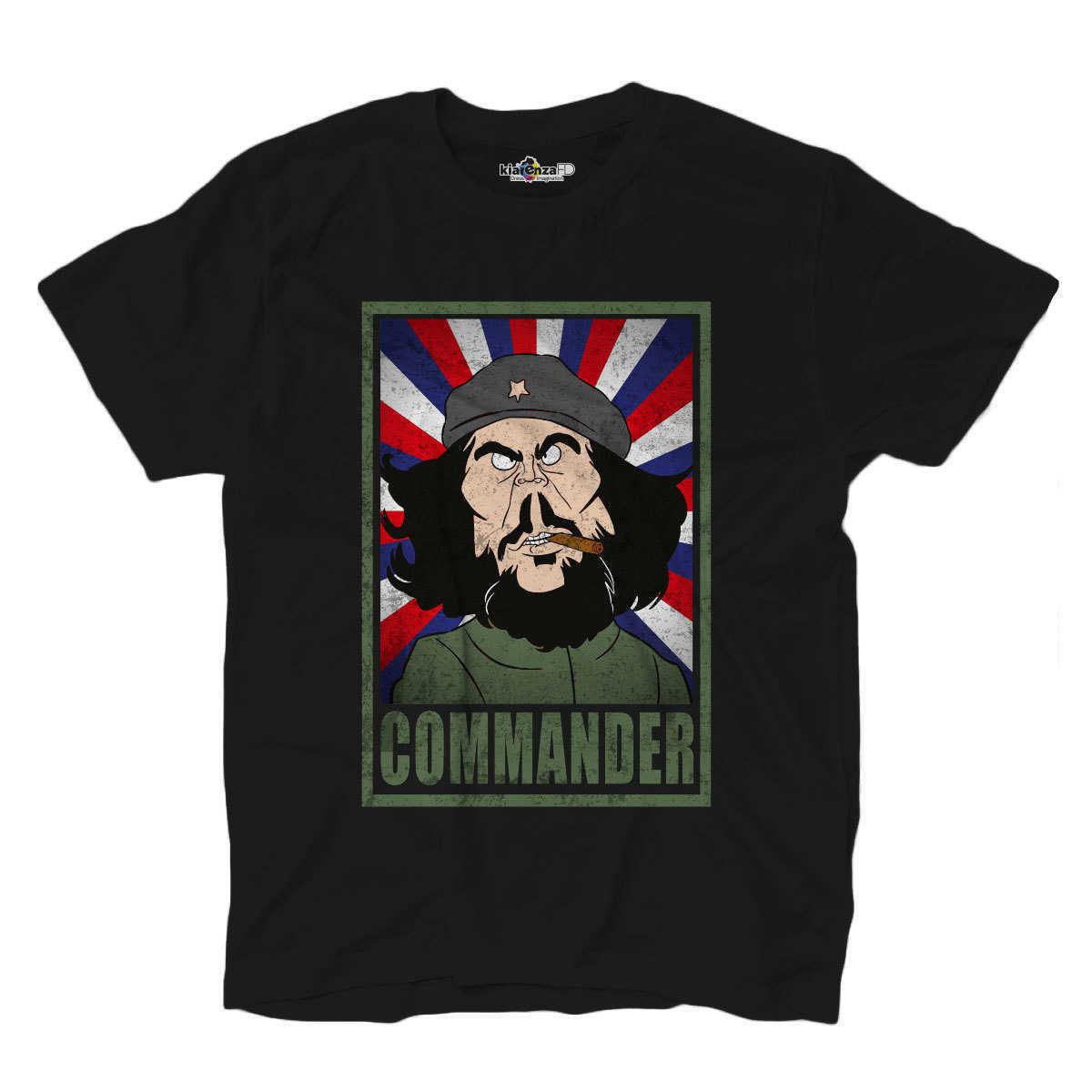 Camiseta parodia caricatura política Commander líder Guerrero Cuba S