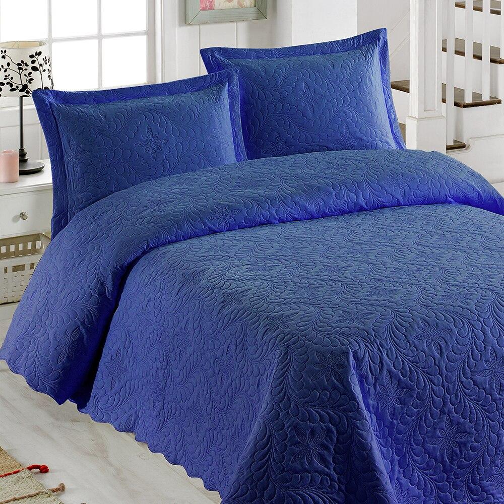 بلدي بطانية Ivy الأزرق الداكن شخصية مزدوجة ستوكات مفرش مبطن تسليم سريع موثوق نسيج عالي الجودة الخياطة الخاصة قابل للغسل