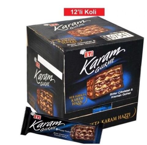 Turkish biscuit Eti Karam Gourmet wafer 50gr. (1 pack 12 pieces)