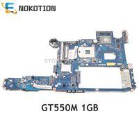 NOKOTION Laptop Motherboard For LENOVO IdeaPad Y470 Mainboard PIQY0 LA-6881P HM65 DDR3 GT 550M GPU 1GB