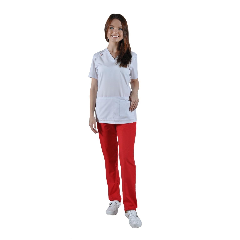 Médico blusa ivuniforma Camilla blanco