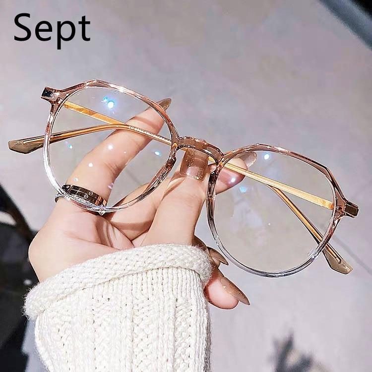 Sept  Anti Blue Light Glasses Men Metal Optical Computer Spectacle Retro  Glasses Women Polygon Eyeg